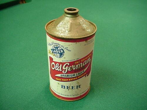 Vintage Old German Beer Cumberland MD Quart Cone Top Beer Can