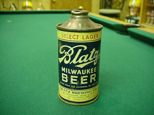 Blatz Milwaukee Beer Cone Top Beer Can