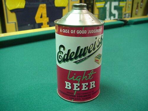 Nice Indoor Edelweiss Light Beer Qt Cone Top - 32 oz