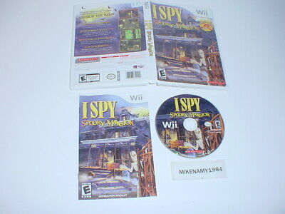 I SPY SPOOKY MANSION game complete in case w/ manual for Nintendo Wii