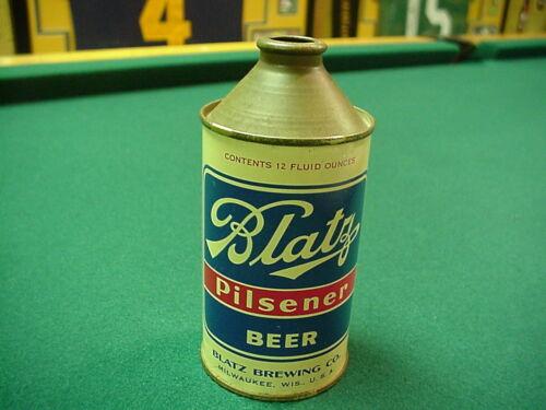 Beautiful Blatz Pilsener IRTP 3.2% Cone Top Beer can, Blatz Brewing Milwaukee,WI