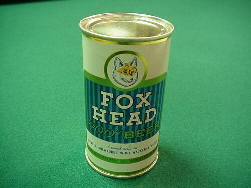 """Fox Head """"400"""" Beer 1958 flat top - Fox Head Brewing Co., Waukesha, Wisconsin"""