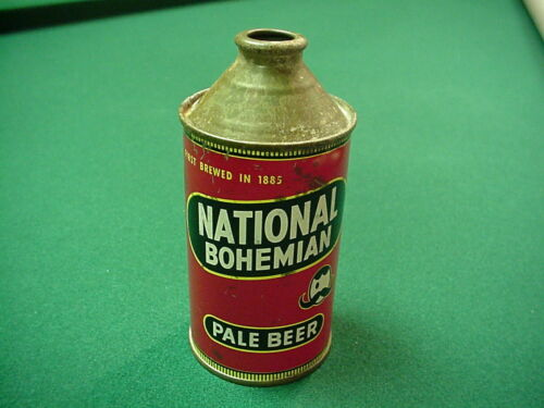 National Bohemian Pale Beer Baltimore Cone Top Beer Can.