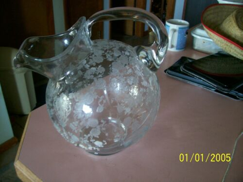 Cambridge Rose Point 80 oz tilted ball pitcher