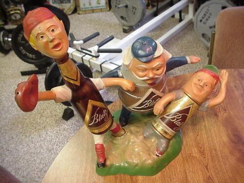 Vintage Blatz Beer Baseball Advertising Large Figure Display SEE PHOTO