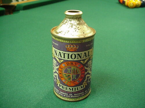 National bohemian beer cone top can Baltimore Maryland