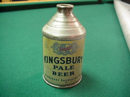 KINGSBURY PALE BEER CONE TOP BEER CAN NICE