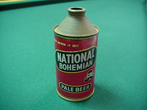 National Bohemian cone top beer can - Baltimore, MD NICE