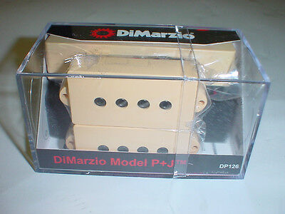 DIMARZIO DP126 Model P + J Bass Guitar Pickup SET - CREAM ()