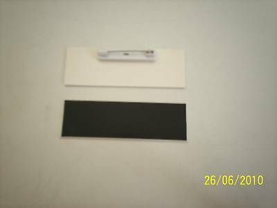 20 Blackwhite Blank Name Badges Tags 1x3 With Pins