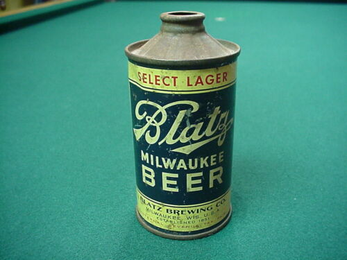 1936 Blatz  Inverted rib Flat bottom cone top beer can
