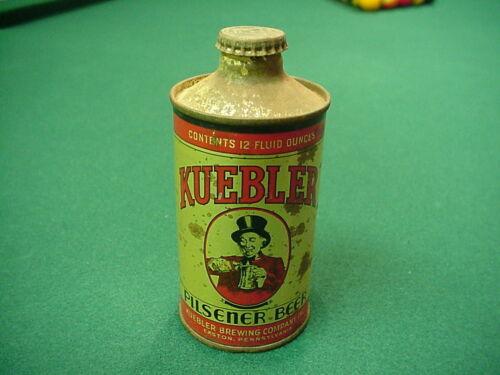 Kuebler Pilsener Beer Cone Top Beer Can W/Cap NICE