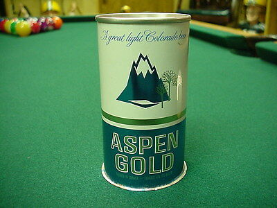 Aspen Gold Beer Pull Tab Beer Can