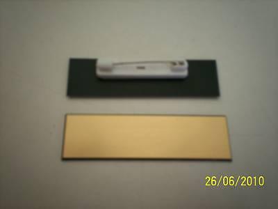 10 Goldblack Blank Name Badges Tags With Pins.