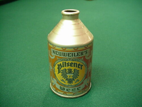 NEUWEILERS Crowntainer Cone top can. Allentown Pa Penn Beer. Nice Clean Indoor.