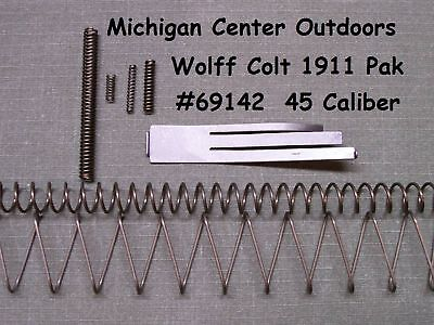 - Wolff SPRING KIT for Colt Pistol 1911 1991 1911A1 Gov't MKIV Gold Cup .45 69142