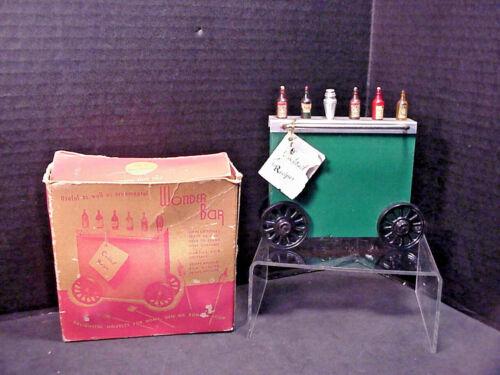 Wonder Bar Miniature Cocktail Cart Recipes & Picks Original Box Made in USA Vtg