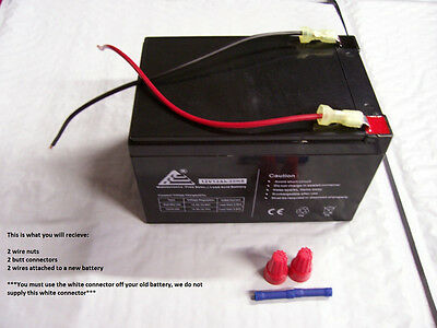 12V Blue Battery Replacement W   Kit For 12V Peg Perego Polaris Rzr Outlaw Fiat
