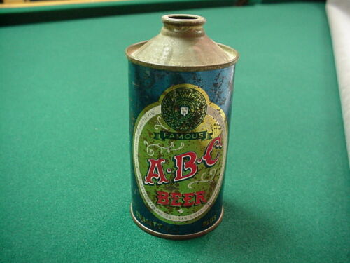 A-B-C FAMOUS BEER ~ LOW PROFILE CONE TOP BEER CAN