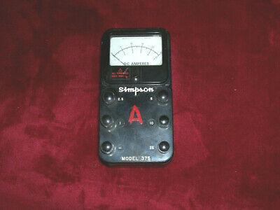 Simpson Model 375 Dc Amperes Meter