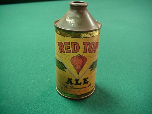 Red Top Ale 12 oz. HP cone top beer can from Cincinnati, Ohio