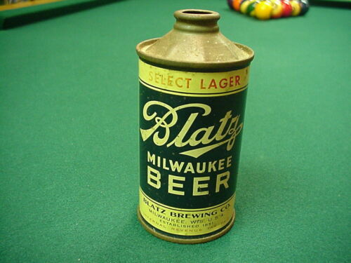 1936 BLATZ RED STAR SELECT LAGER MILWAUKEE BEER CAN LP CONE TOP WISCONSIN