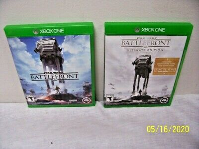 2 Xbox One Video Games w/Star Wars Battlefront & the Ultimate Edition! F/S!