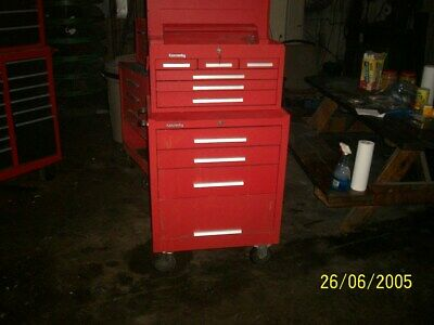 Kennedy Tool Box Set Top Box And Roll-around Very Nice Set Have Keys