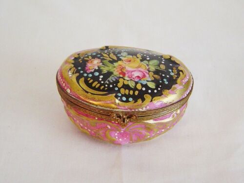 Small Hand Painted Porcelain Box Sevres
