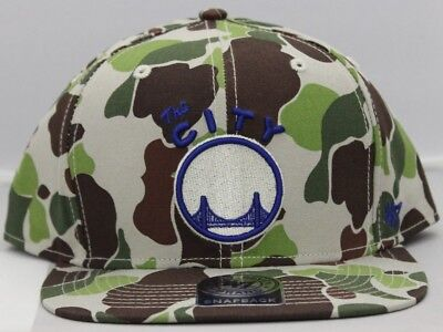 Golden State Warriors 47 Brand Bufflehead Snapback Tarnfarbe Original Hut