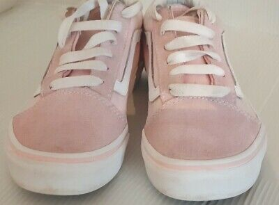 VANS -KIDS SHOES- PINK+WHITE- UK 2.5
