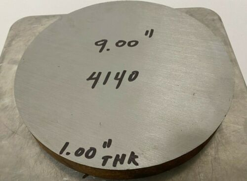 4140 Steel Round Bar Annealed 9 in Diameter x 1 in Length