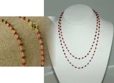 DESIGNER INSPIRED BY DAVID YURMAN 18K WIRE WRAPPED NATURAL RUBY WRAP NECKLACE