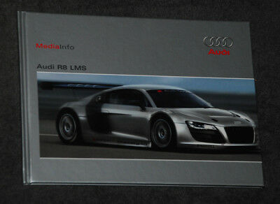 Audi R8 LMS - Hardcover Pressemappe Media-Info Press-Kit   12/2008