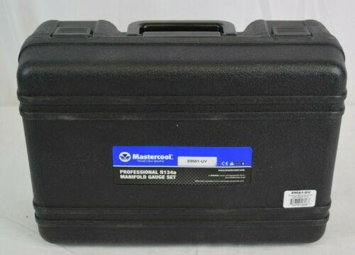 "Mastercool 89661-uv 134a Aluminum Manifold Gauge Set 60"" Hoses Manual Couplers"