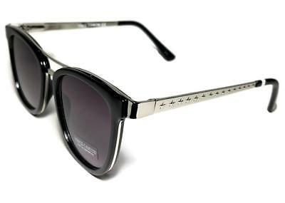 NWT $75 VINCE CAMUTO + Case Black Silver Star Frame Sunglasses VC804
