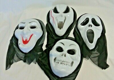 4 Halloween Scary Creepy Ugly Face Masks for Adults/Teens For Trick-Or-Treating - Ugly Faces For Halloween