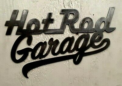 Fathers Day gift New Raw metal Hot Rod Garage man cave or Bar Metal Sign