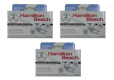 Hamilton Beach Water Filter 80674 for BrewStation and Stay or Go 6 FILTERS