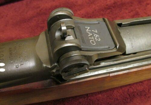 M1 Garand rear sight spring UNISSUED engraved 7.62 NATO