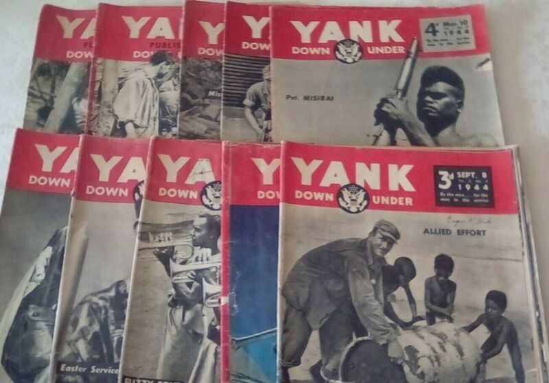 Vintage 1944 ~ 10 Lot ~ YANK DOWN UNDER ~ The Army