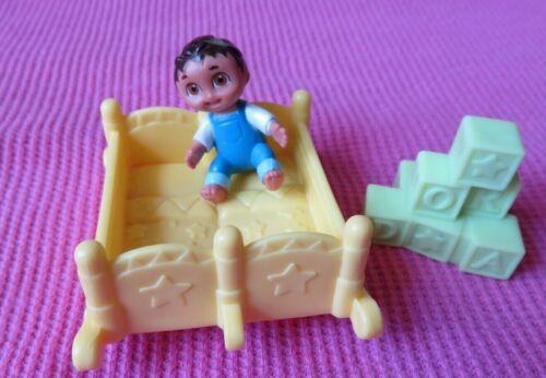 Dora the Explorer BABY BOY Figure + ROCKING CRIB+ blocks house replacement toys