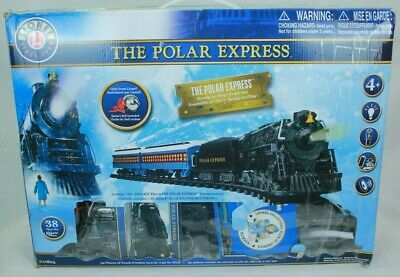 THE POLAR EXPRESS LIONEL 712061-200 BATTERY OPERATED TRAIN 38PC SET XMAS