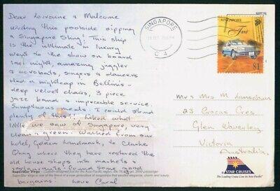 Mayfairstamps Singapore 2000 to Victoria Australia Taxi Cover wwo_50291
