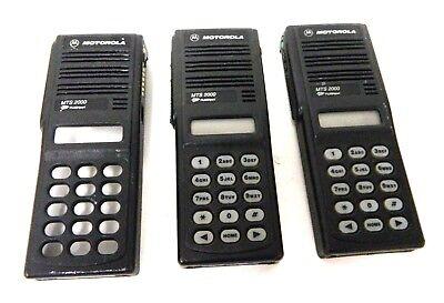 Lot of 3 Motorola MTS 2000 Radio Black Housing Front Cover Case