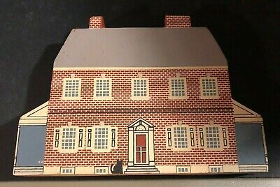 ROCK FORD PLANTATION Edward Hand Cat's Meow Wooden Sitter Lancaster PA 1989