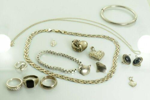 Jewelry Lot Sterling Silver  All Marked 111.3 g - Rings Bracelets Earrings ETC