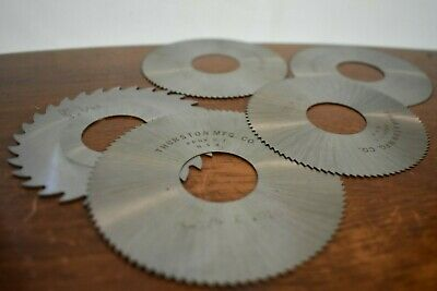 Lot Of Slitting Saws Slit Discs Milling Thurston And Brown Sharpe