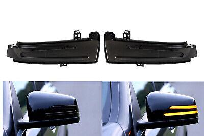 Smoke Dunkel Schwarze LED Spiegelblinker Aussenspiegel für Mercedes W212 W176