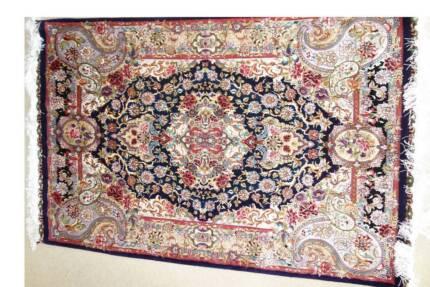 Handmade Persian Rug (silk and wool) Tabriz carpet 100x150cm